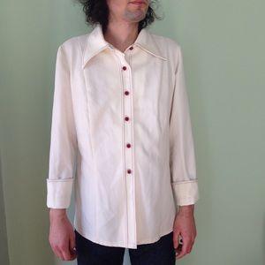 Vintage 70's White Button Down Shirt